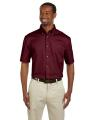 Harriton® Men's Easy Blend TM Short-Sleeve Twill Shirt with Stain-Release